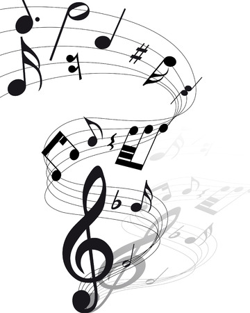 Vector musical notes staff background for design use Stock Vector - 6094480