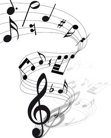 notas musicales: Vector musical toma nota de antecedentes de personal para el uso de dise�o