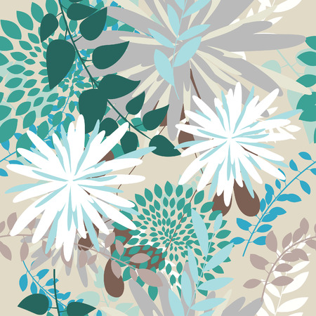 Seamless vector floral background. For easy making seamless pattern just drag all group into swatches bar, and use it for filling any contours. Stock Vector - 6094488