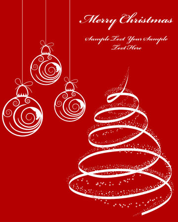 Beautiful vector Christmas (New Year) background for design use Stock Vector - 6094594