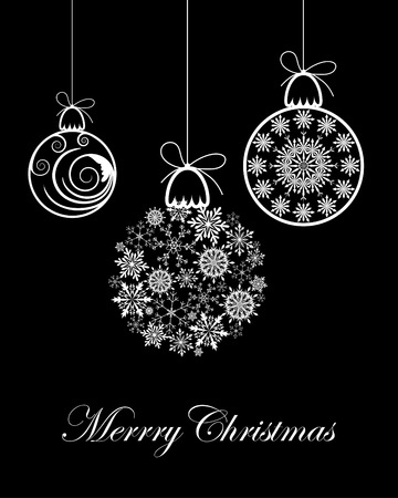 ball lights: Beautiful vector Christmas (New Year) background for design use