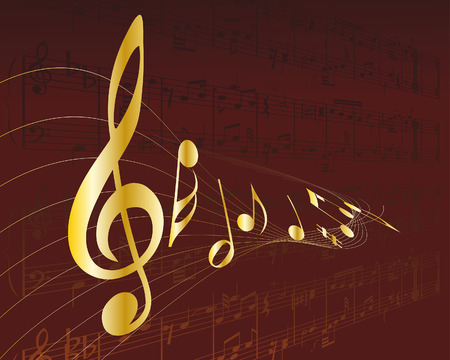 Vector musical notes staff background for design use Stock Vector - 6114842