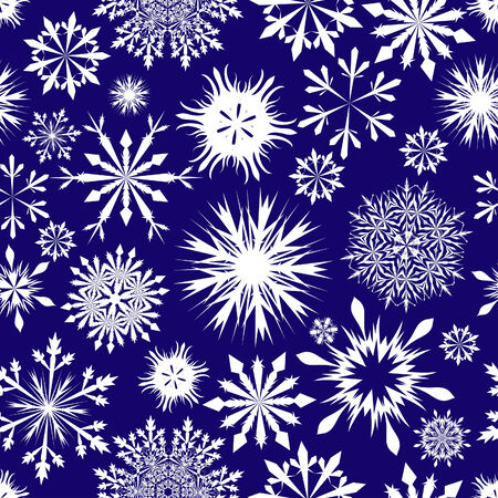 Seamless snowflakes background for winter and christmas theme Stock Vector - 6114851