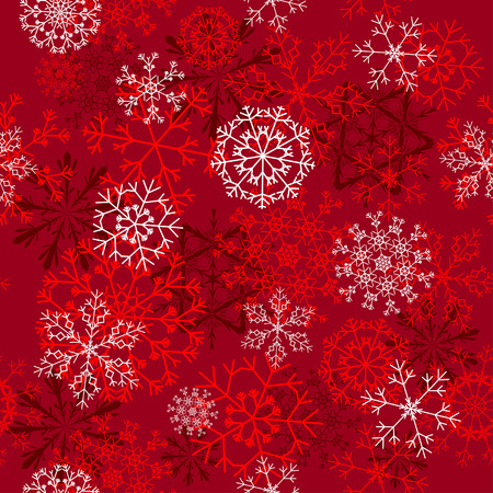 Seamless snowflakes background for winter and christmas theme Stock Vector - 6114855