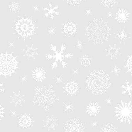 Seamless snowflakes background for winter and christmas theme Vector