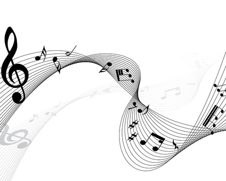 Vector musical notes staff background for design use Stock Vector - 6238052