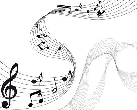 Vector musical notes staff background for design use Stock Vector - 6238046