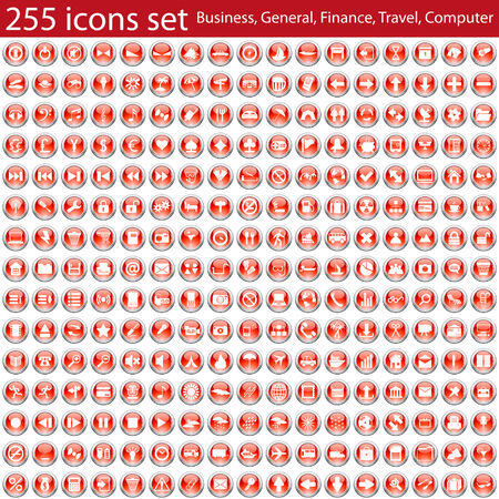 Biggest collection of different vector icons for using in web design Vector