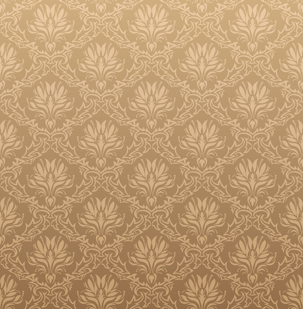 seamless damask: Damask seamless vector background.  For easy making seamless pattern just drag all group into swatches bar, and use it for filling any contours. Illustration