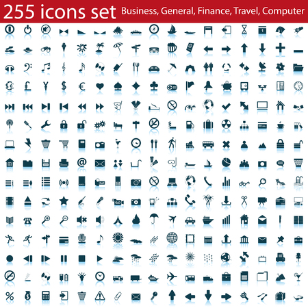 Biggest collection of different icons for using in web design Stock Vector - 6243916