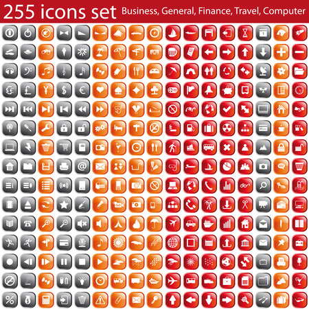 Biggest collection of different icons for using in web design Stock Vector - 6269963