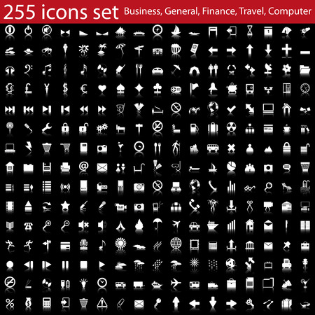 Biggest collection of different icons for using in web design Stock Vector - 6269964