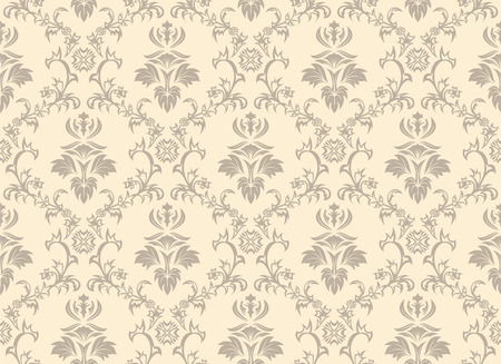 filling: Damask seamless vector background.  For easy making seamless pattern just drag all group into swatches bar, and use it for filling any contours. Illustration