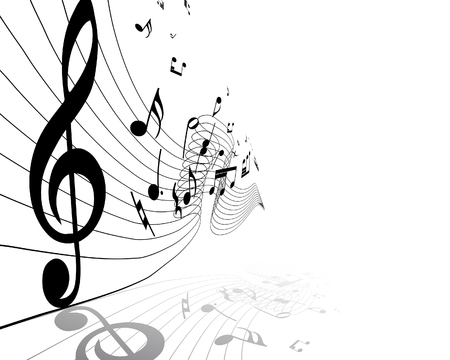 Vector musical notes staff background for design use Stock Vector - 6282331
