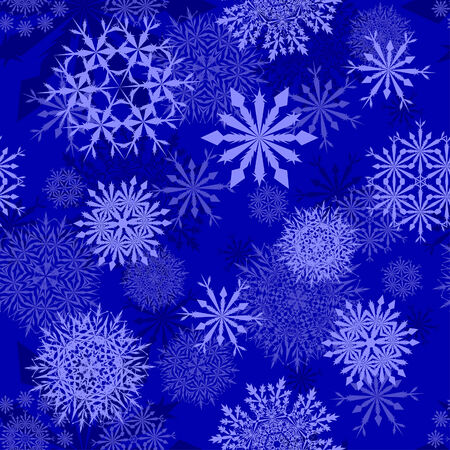 Seamless snowflakes background for winter and christmas theme Stock Vector - 6282439