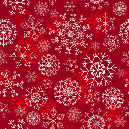 Seamless snowflakes background for winter and christmas theme Stock Vector - 6282385
