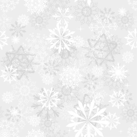 Seamless snowflakes background for winter and christmas theme Stock Vector - 6282437