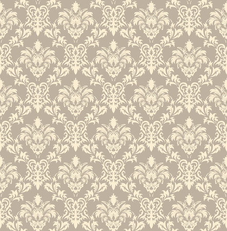 swatches: Damask seamless vector background.  For easy making seamless pattern just drag all group into swatches bar, and use it for filling any contours. Illustration