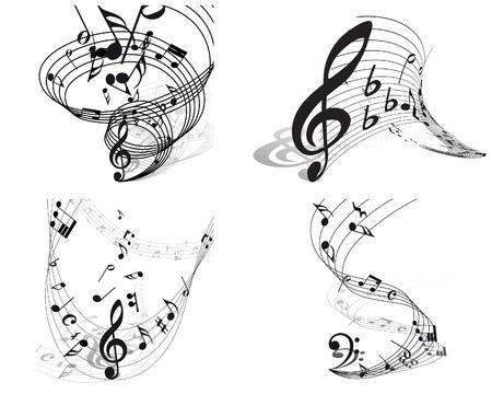 Vector note musicali sfondi personale fissato per usare il disegno