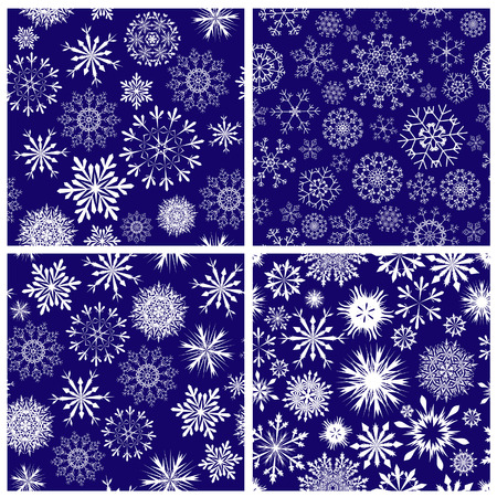 Seamless snowflakes backgrounds set  for winter and christmas theme Stock Vector - 6312523