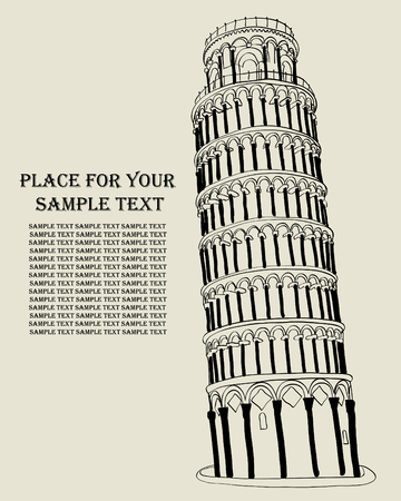 milagre: Pizansky tower at the Miracle field. Italy. Ilustração