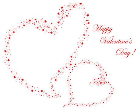 Abstract Valentine days background frame. Vector illustration. Vector