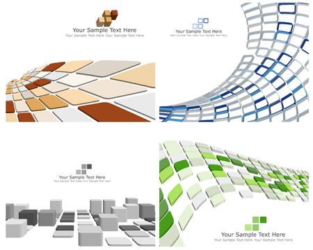 Abstract 3d checked  business background for use in web design Illustration