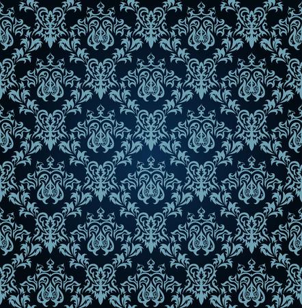 remplissage: Arri�re-plan damass�s vectorielle continue.  Facile pattern transparente prise juste faites glisser groupe tous les dans la barre de nuanciers et utilisez-le pour toute les contours de remplissage. Illustration