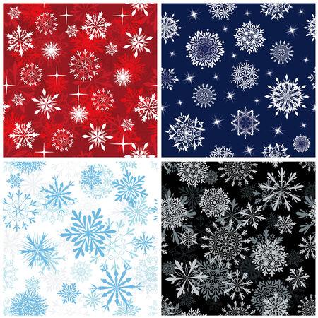 Nahtlose Snowflakes Hintergründe festlegen für Winter und Weihnachten Design