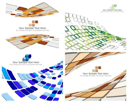 checked: Abstract 3d checked  business backgrounds set for use in web design
