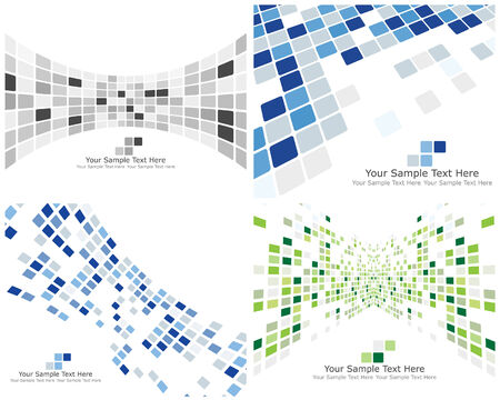 kontrolovány: Abstract 3d checked  business backgrounds set for use in web design