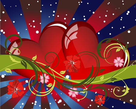 Abstract Valentine's day card. Vector illustration. Stock Vector - 6395808