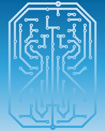Electric scheme for design use. Vector illustration. Stock Vector - 6429636