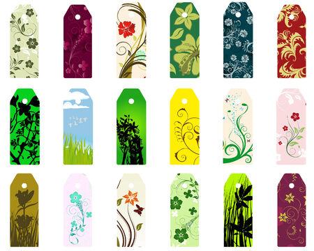 Conjunto de vectores diferentes marcadores florales para uso de diseño Ilustración de vector