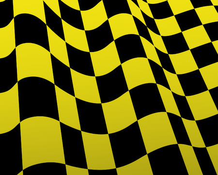 Yellow and black checked racing flag.  Stock Vector - 6460441