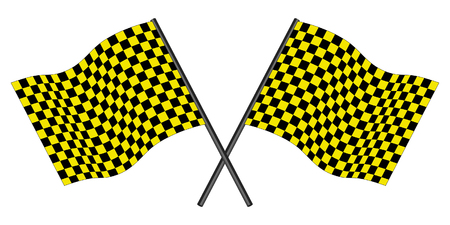 checked flag: Yellow and black checked racing flag.