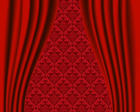 Curtain background Stock Vector - 6460591