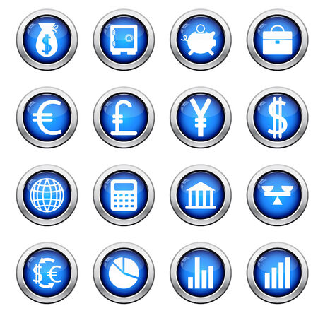 Big collection of financial icons for using in web design Vector