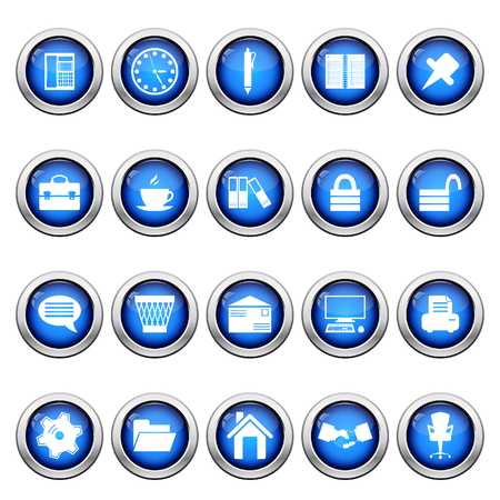 Business and office set of different web icons Stock Vector - 6460463