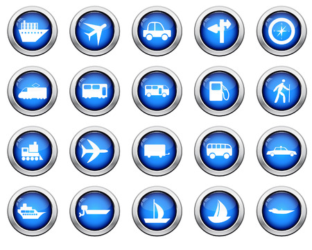 Transportation set of different web icons Stock Vector - 6460461