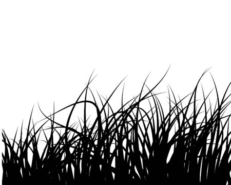 grass silhouettes background. All objects are separated. Stock Vector - 6468564