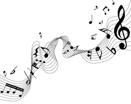 pentagrama musical: Fondo para el uso del dise�o de personal de notas musicales