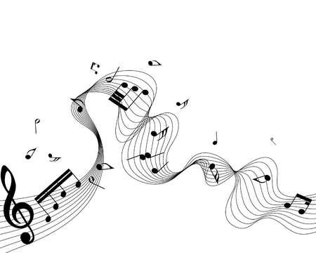 musical notes staff background for design use Stock Vector - 6468563