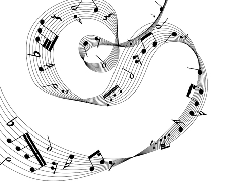 musical notes staff background for design use Stock Vector - 6468569