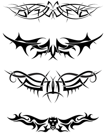 Patterns of tribal tattoo for design use Stock Vector - 6477158