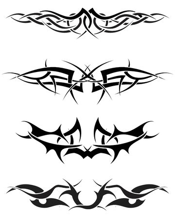 dingbat: Patterns of tribal tattoo for design use