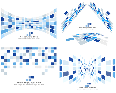 Abstract 3d checked  business background for use in web design Stock Vector - 6509459
