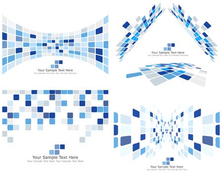 웹 디자인에 사용하기 위해 추상 3d 체크 사업 배경