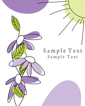 Abstract vector greetings card for design use.