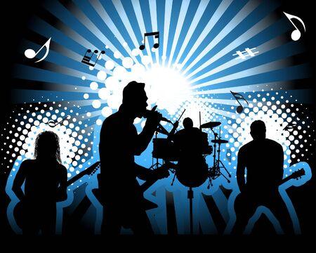 Rock group. Vector illustration for design use.